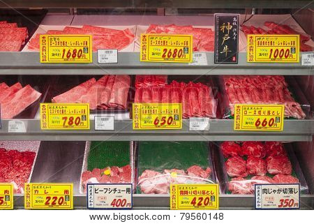 Beef For Sale In A Fresh Market