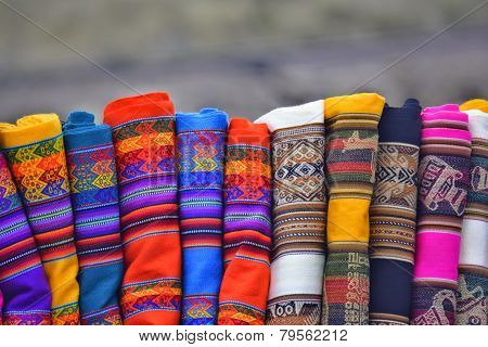Colorful indigenous fabrics