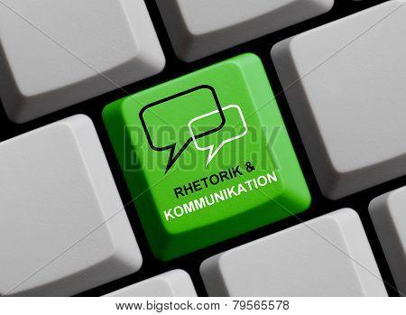Computer Keyboard showing rhetoric and communication