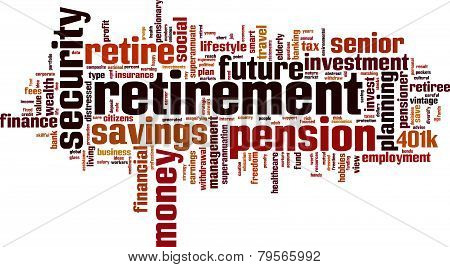 Retirement Word Cloud