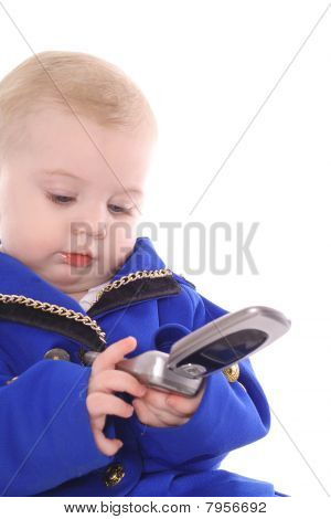 baby dialing on cellphone