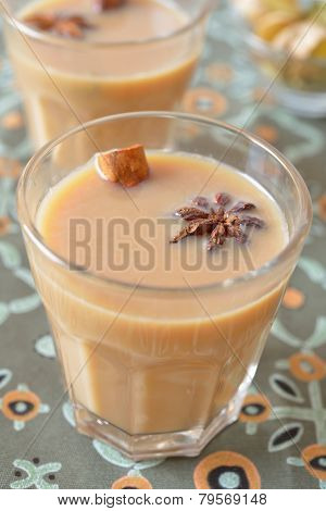 Masala chai tea and spices