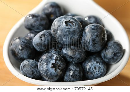 Blueberry  On A Spoon Concept For Healthy Eating And Nutrition