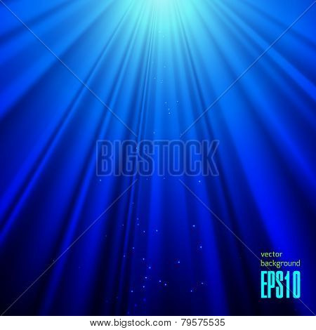 Blue Lights Vector Background