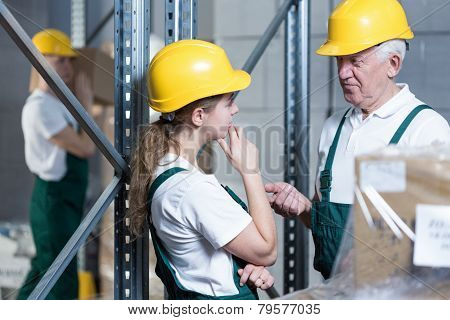Engineer Talking With Plant Worker