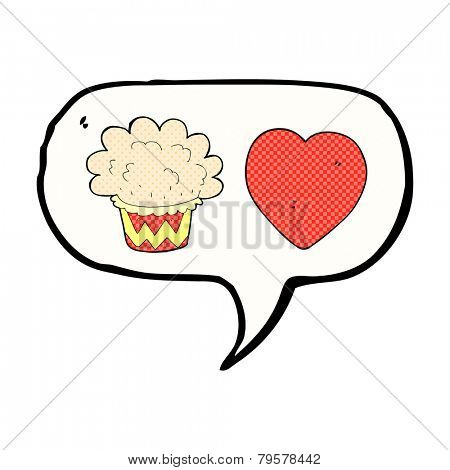 Love muffin cartoon