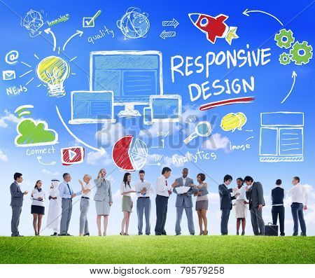 Responsive Design Internet Web Business People Communication Concept