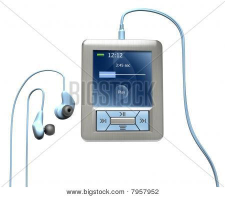 Mp3 Player isolated on white.