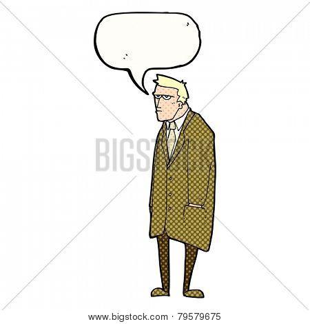 cartoon man in overcoat