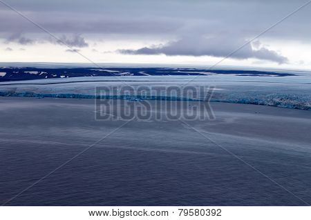 Arctic Glacier. Ice And Cold. Area Novaya Zemlya