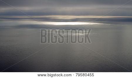 quiet North Sea in the summer