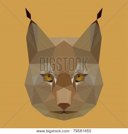 Abstact Geometric Olygonal Lynx Background