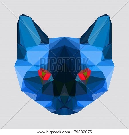 Abstract Geometric Polygonal Siamese Cat