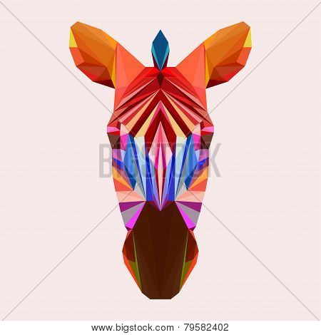Abstract Geometric Polygonal Zebra