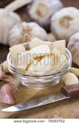 Portion Of Peeled Garlic