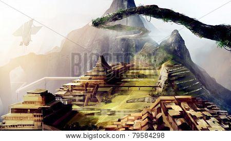 Machu Picchu art.