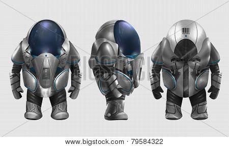 Spaceman illustration.