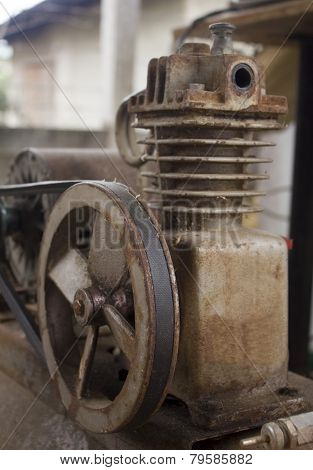 Rusty air compressor