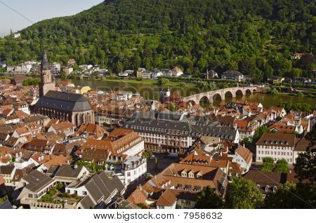 Heidelberg - Old Town, View From Above