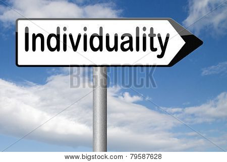 individuality one of a kind personal freedom stand out from crowd being different having a unique personality unique personal development and existence