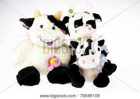 Cow Plush Family