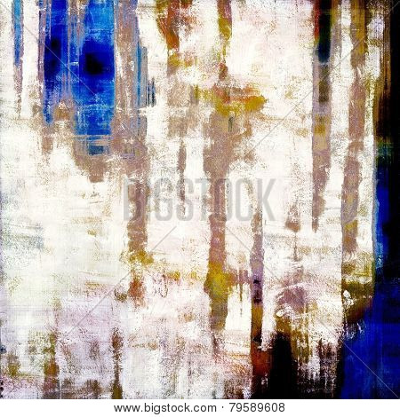 Retro background with grunge texture. With different color patterns: brown; blue; gray; yellow (beige)