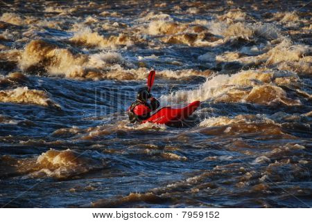 Kayaker on the James River