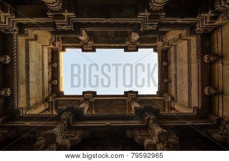 Perspective View Of Adalaj Stepwell In Ahmedabad