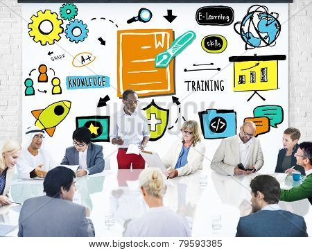 Business People Training Communication Discussion Planning Concept