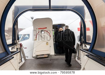 Boarding Of An Airplane