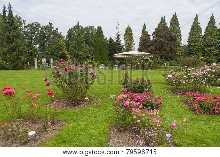 Botanical garden Volcji potok, arboretum, Kamnik, Slovenia