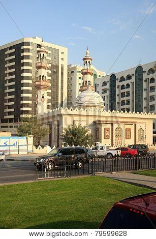 Muslim mosque in Sharjah.