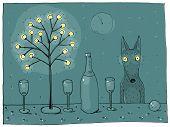 pic of wolf-dog  - Dog  - JPG