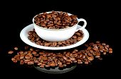 stock photo of coffee coffee plant  - Still life of coffee coffee cup with coffee beans