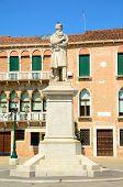 picture of stature  - Nicolo Tommaseo monument in Campo Santo Stefano in Venice Italy - JPG