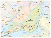 picture of greater  - Greater Montreal Road And Administrative Map eps 10 - JPG