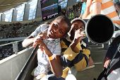 Kids play a 'Vuvuzela'. Part3
