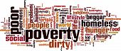image of beggar  - Poverty word cloud concept - JPG