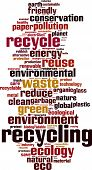 stock photo of waste reduction  - Recycling word cloud concept - JPG