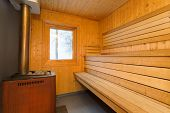 picture of sauna  - Sauna interior  - JPG