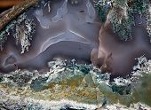 pic of agate  - agate precious stone surface with veins pattern closeup - JPG