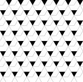 picture of trapezoid  - Black and white geometric seamless pattern with triangle and trapezoid abstract background vector EPS10 - JPG