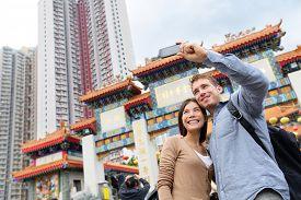 stock photo of taoism  - Hong Kong tourist attraction Wong Tai Sin Temple - JPG