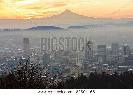 Beautiful Vista Of Portland, Oregon