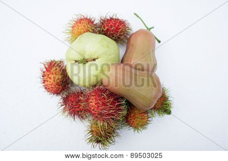 Roseapple Fruit Tropical Sweet Summer Concept