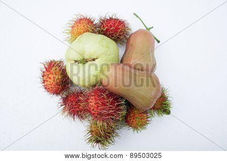 Roseapple Fruit Tropical Sweet Summer Concept