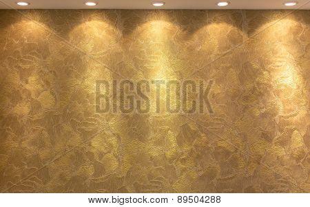 Golden Texture Background Lighting Lamps