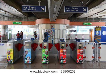 Mrt Train Entrance In Bangkok