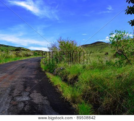 Paved Road to the summit and cross of Masaya Volcano Nicaragua