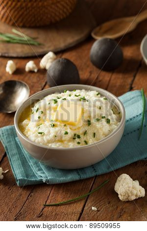 Homemade Organic Mashed Cauliflower